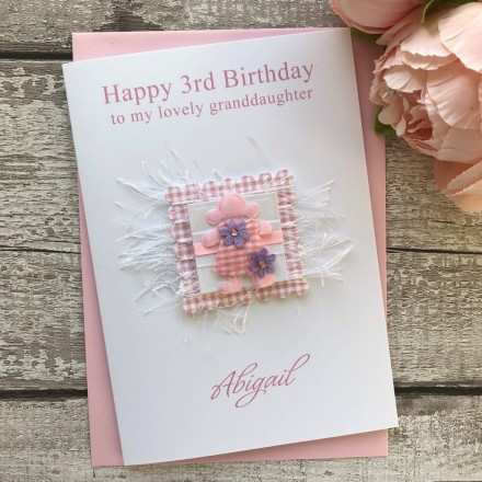 Handmade Birthday Card 'Gingham Doll'