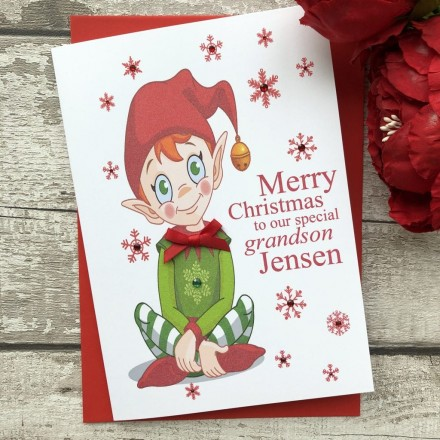 Handmade Christmas Card 'Elf'