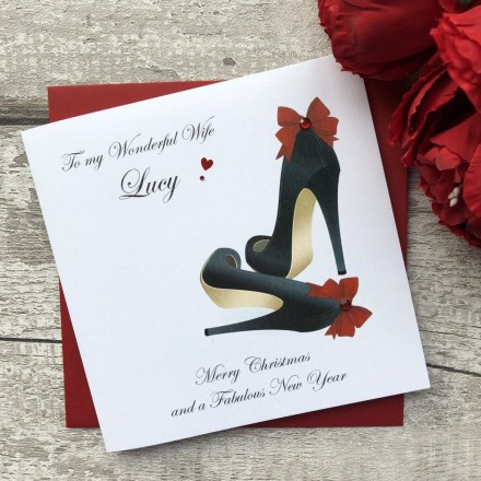 Handmade Christmas Card 'Shoes'