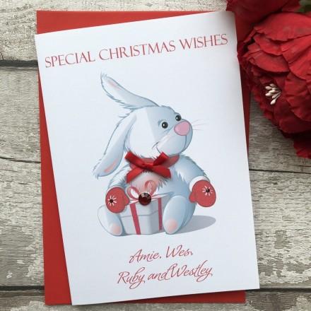 Handmade Christmas Card 'Rabbit'