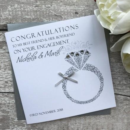 Handmade Engagement Card 'Diamond Ring'