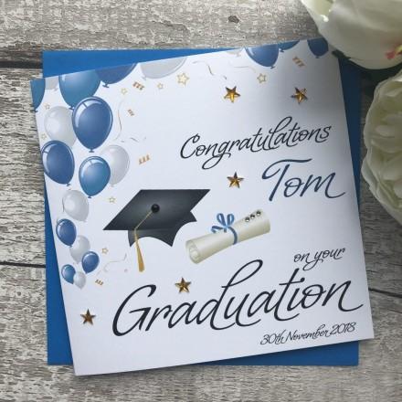 Handmade Graduation Card 'Balloons'