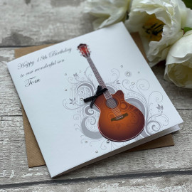 Handmade Birthday Card 'Spanish Guitar'
