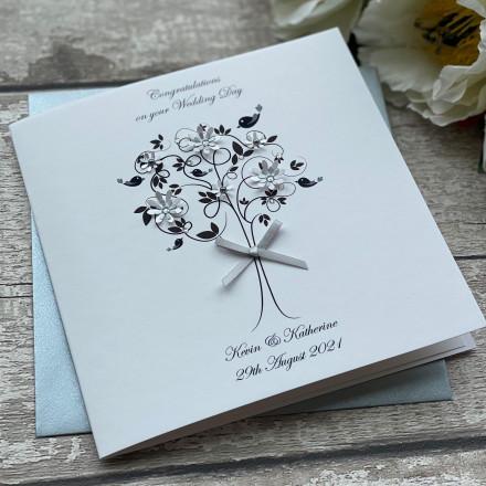 Handmade Personalised Wedding Card 'Love Bird'