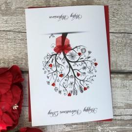 "Handmade Valentines Card  ""Floral Tree"""