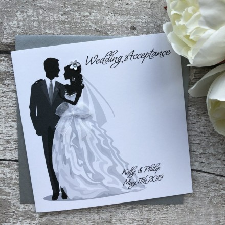Handmade Wedding Acceptance Card
