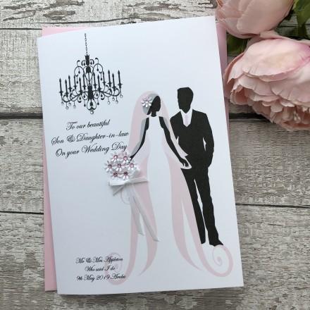 Handmade Wedding Card 'Bride & Groom'