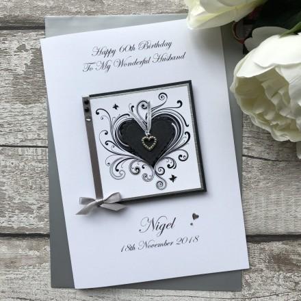 Handmade Wedding Anniversary Card 'Heart'