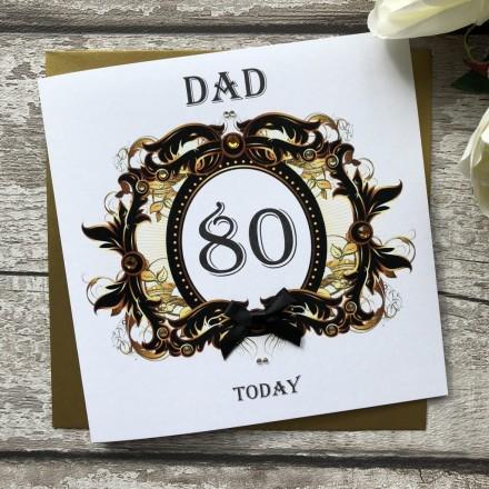 Handmade Birthday Card 'Number Scroll'