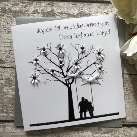 Handmade Wedding Anniversary Card