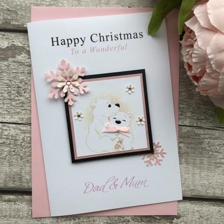 Handmade Christmas Card 'Bears'