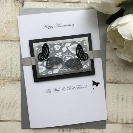 Handmade Wedding Anniversary Card 'Butterfly'