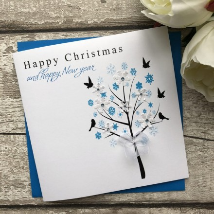Handmade Christmas Card Tree