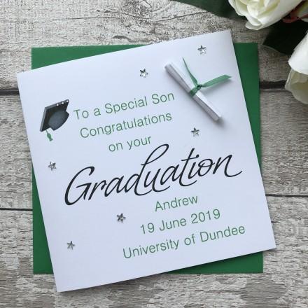 Handmade Graduation Card 'Mortarboard'