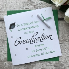Handmade Graduation Card 'Mortarboard'