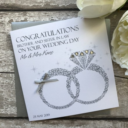 Handmade Wedding Card 'Wedding Rings'