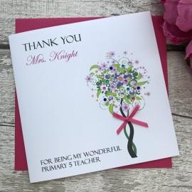 Handmade Thank You Teacher Card