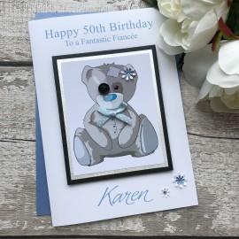 Luxury Birthday Card 'Tatty Teddy'