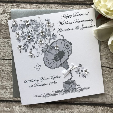 Handmade Diamond Wedding Anniversary Card