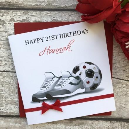 Handmade Birthday Card 'Football'