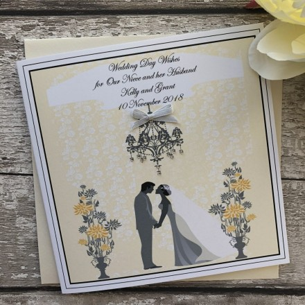 Handmade Wedding Card 'Bride and Groom'
