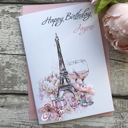 Handmade Birthday Card 'Eiffel Tower'