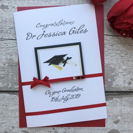 Handmade Luxury Graduation Card