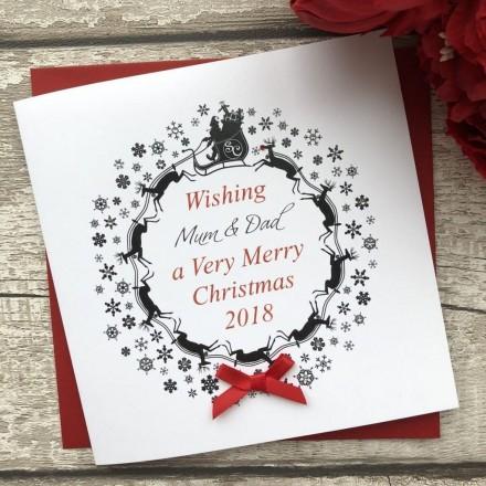 Handmade Christmas Card 'Wreath'