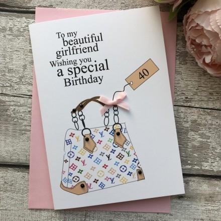 Personalised Handmade Birthday Card 'Hand Bag'