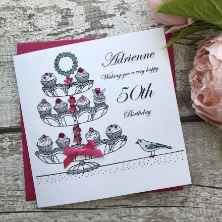 Handmade Birthday Card 'Cup Cakes'