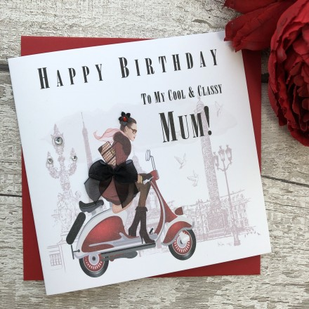 Handmade Birthday Card 'Lambretta'