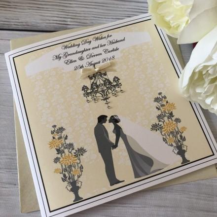 Handmade Wedding Card 'Couple'