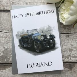 Handmade Birthday Card 'Vintage Rolls Royce'