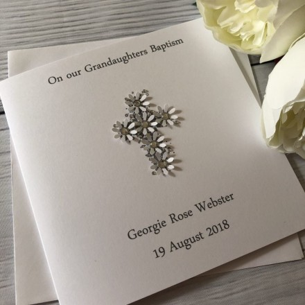 Handmade Personalised Christening Card