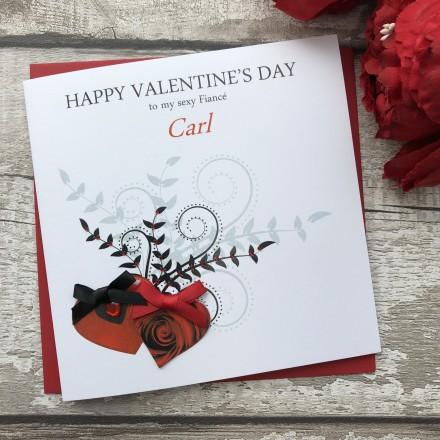 "Handmade Valentines Card ""Double Heart"""
