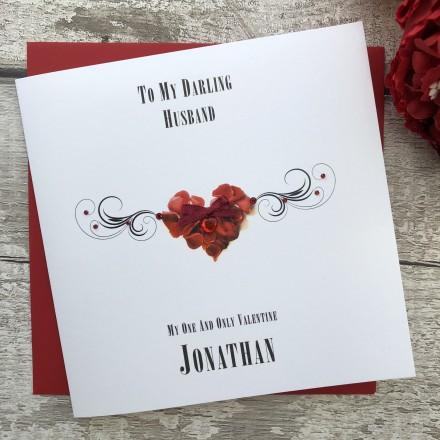 "Handmade Valentines Card ""Petal Heart"""