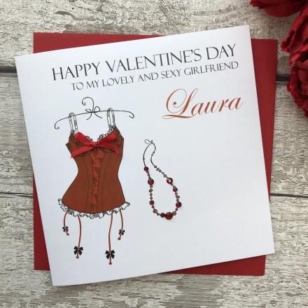 "Handmade Valentines Card ""Red Basque"""