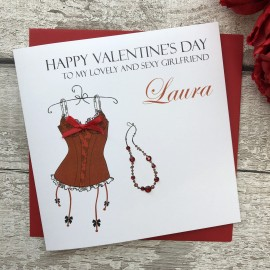 "Handmade Valentines Card ""Red Basque"""