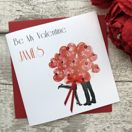 Handmade Valentines Card 'Heart Balloons'