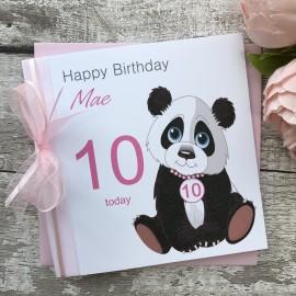 Handmade Birthday Card 'Panda@