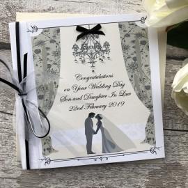 Personalised Handmade Wedding Card 'Bride & Groom'