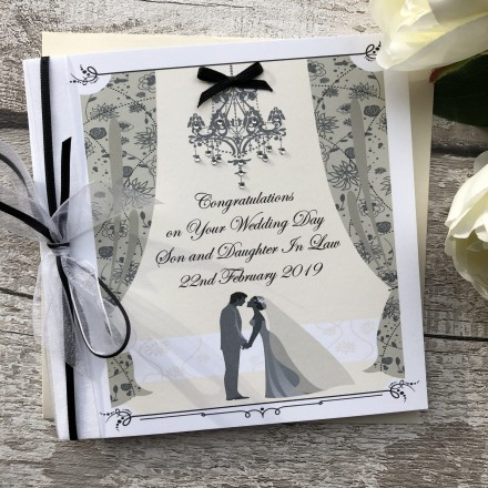 Personalised Handmade Wedding Card 'Bride & Groom'