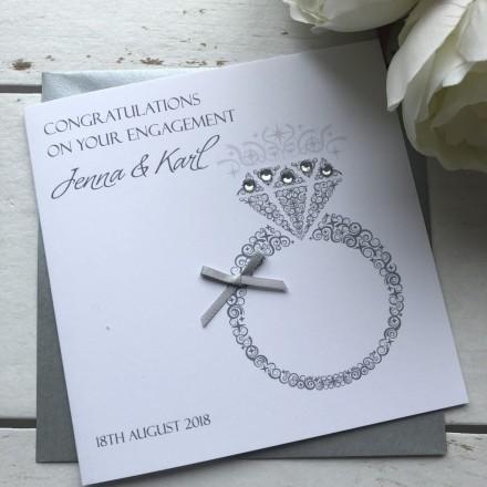 Handmade Engagement Card 'Ring'