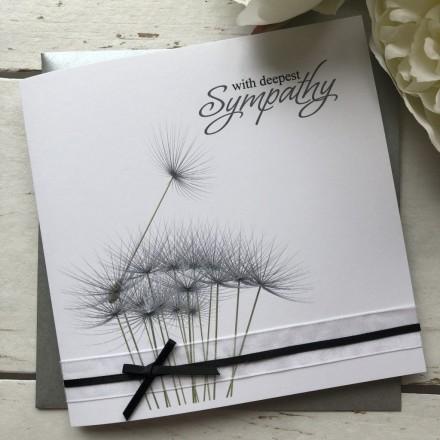 Handmade Sympathy Card 'Dandelion'