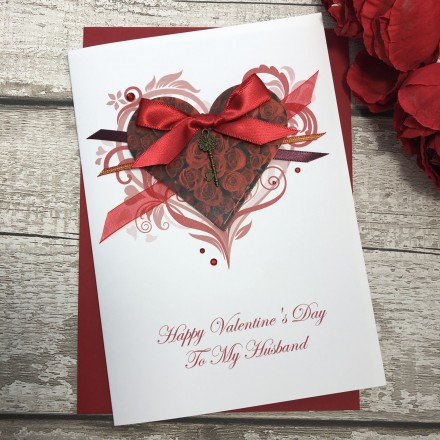 "Handmade Valentines Card ""Key To My Heart"""