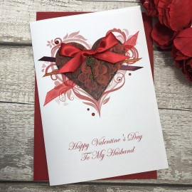 "Handmade Valentines Card ""Key To My Heart"""