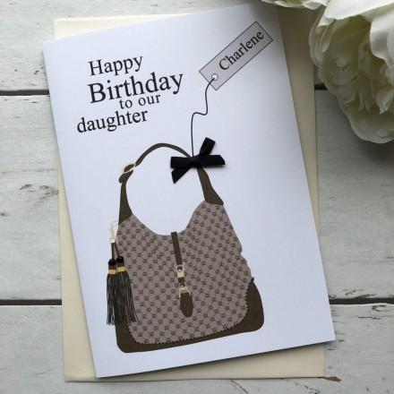Personalised Handmade Card 'Designer Handbag'