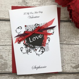 "Handmade Valentines Card ""Vintage Heart"""