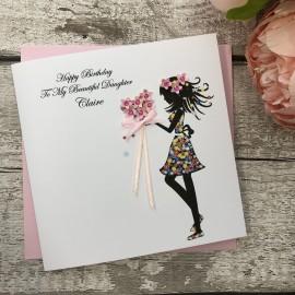 Handmade Birthday Card 'Flower Posy'