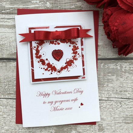 "Handmade Valentine's Card ""Heart of Hearts"""